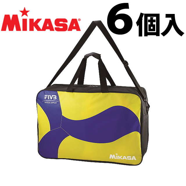 【2019新作】ミカサ(MIKASA) ボールバッグ 最新型バレーボール6個入バッグ 2019NEW [AC-BG260W-YB] ボール変更 新デザイン【即納】