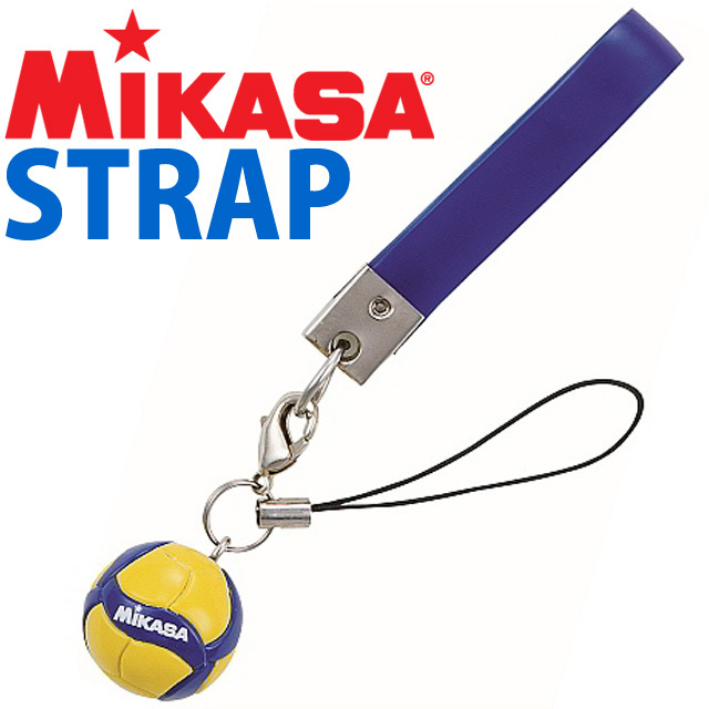 【メール便OK】ミカサ(MIKASA) 携帯ストラップ バレーボール 2019NEW [AC-ST200W-M-JP] ボール変更で新しいデザインに