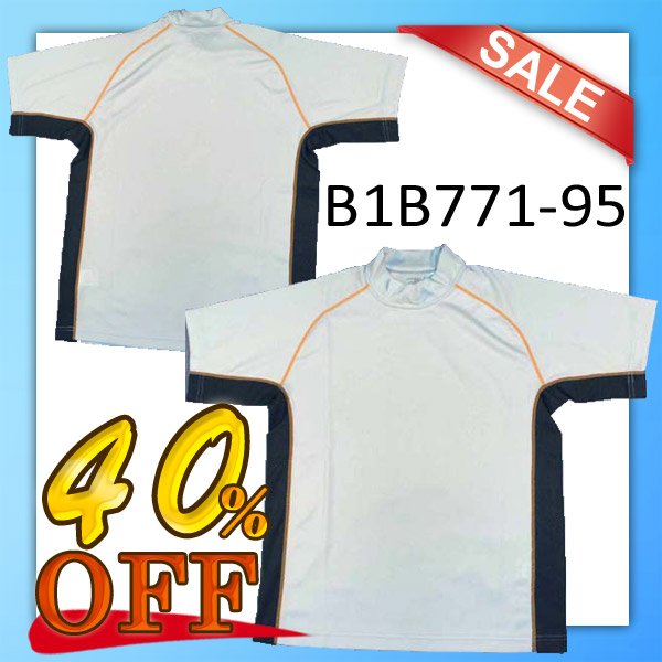 【1枚までメール便OK】【40%OFF!】ハイネックプラクティスTシャツ B1B771-95(シルバー)男女兼用サイズ