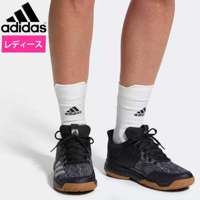 【即納】アディダス(adidas) レディース バレーボールシューズ リグラ 6 W [CP8906] コアブラック/シルバーメット/ランニングホワイト 2018新作 EFX54