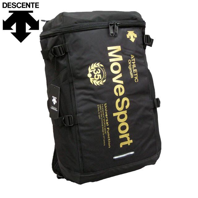 【即納】デサント(DESCENTE) スクエアバックパック [DAC8723-BKGD] ブラック×ゴールド リュックサック メンズ レディース
