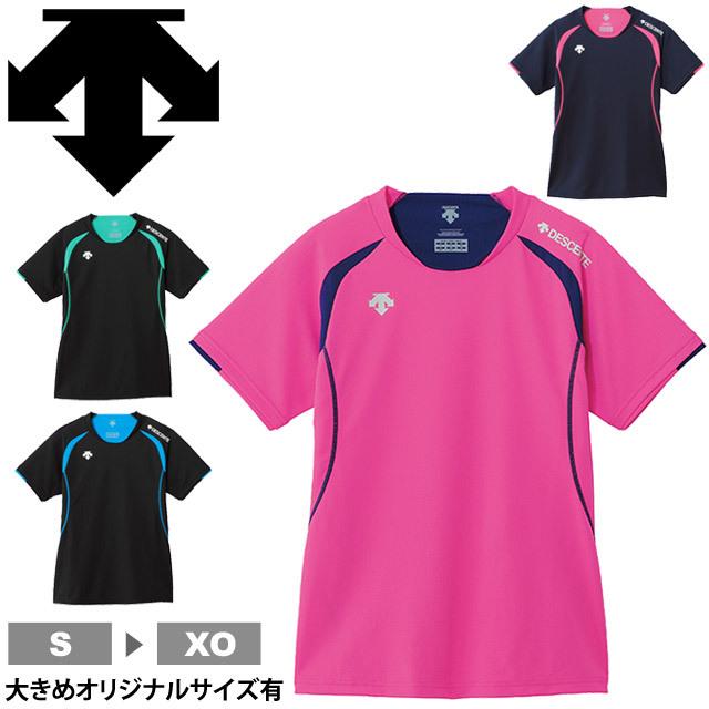 【1枚までメール便OK】デサント(DESCENTE) 半袖 プラクティスシャツ プラシャツ Tシャツ バレーボールウエア 練習着 DSS-5421W レディース
