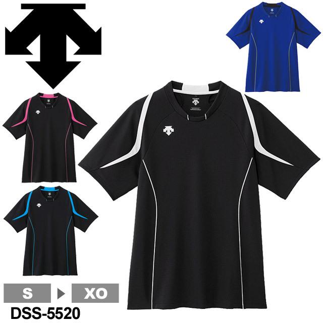 【1枚までメール便OK】デサント(DESCENTE) 半袖 プラクティスシャツ プラシャツ Tシャツ バレーボール 練習着 2015 新作 DSS-5520 男女兼用 ユニセックス
