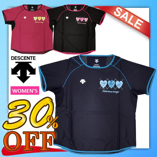 【1枚までメール便OK】セール!デサント(DESCENTE) レディース バボちゃん半袖プラクティスピステ [DVA-3670W] バレーボール