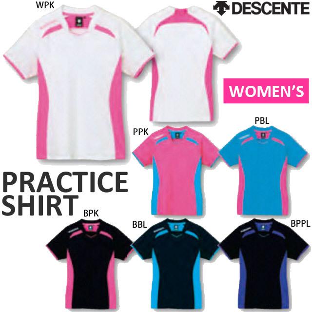 【1枚までメール便OK】デサント(DESCENTE) 半袖 プラクティスシャツ 半袖シャツ バレーボール DVB-5124W ウィメンズ 女性用 レディース