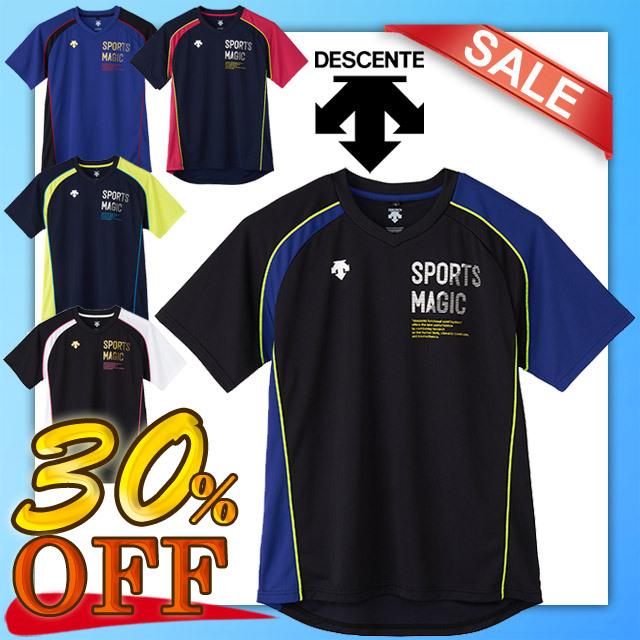 【1枚までメール便OK】セール!デサント(DESCENTE) バレーボール 半袖プラクティスTシャツ [DVB-5726] SPORTS MAGIC