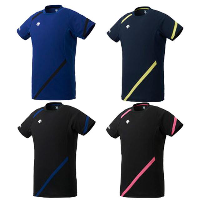 【1枚までメール便OK】デサント(DESCENTE) バレーボール 半袖 ライトゲームシャツ [DVB5121] 人気 襟なし ユニセックス(男女兼用)【2021新作】