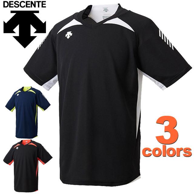 【1枚までメール便OK】デサント(DESCENTE) バレーボールウェア 半袖プラクティスTシャツ ユニセックス 18SS [DVULJA50] プラシャツ 新作
