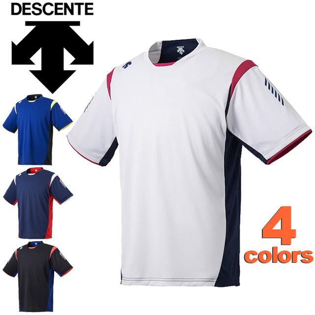 【1枚までメール便OK】デサント(DESCENTE) バレーボールウェア 半袖プラクティスTシャツ ユニセックス 18SS [DVULJA51] プラシャツ 新作