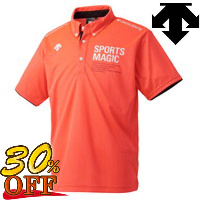 【セール!30%オフ!】【1枚までメール便OK】デサント(DESCENTE) バレーボール 半袖ポロシャツ [DVULJA70] 即納