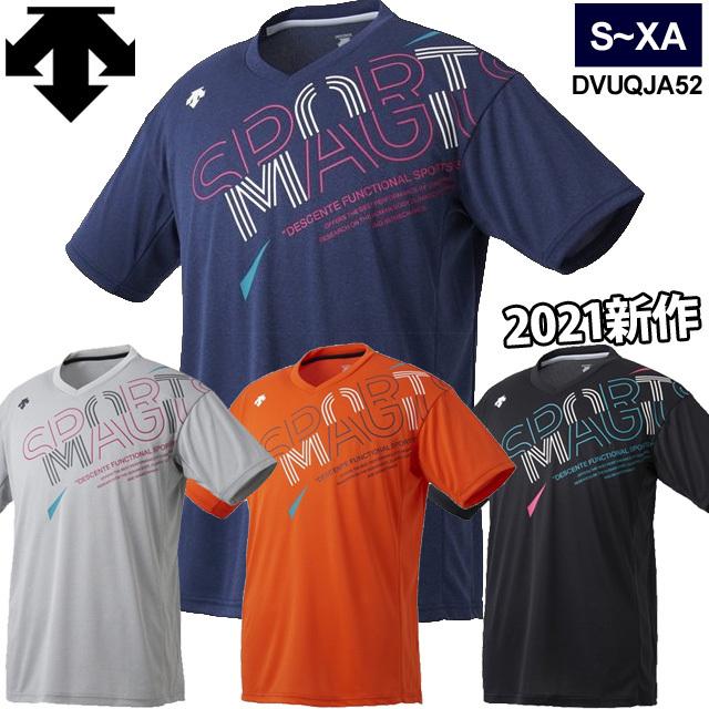 【1枚までメール便OK】デサント(DESCENTE) スポーツ バレーボールプラクティスシャツ 半袖 男女兼用(ユニセックス)[DVUQJA52] 2021新作