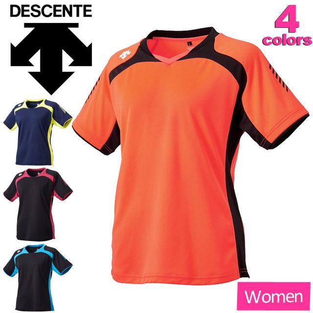 【1枚までメール便OK】デサント(DESCENTE) レディース バレーボール練習着 半袖プラクティスシャツ(ウィメンズ) [DVWLJA51] セール
