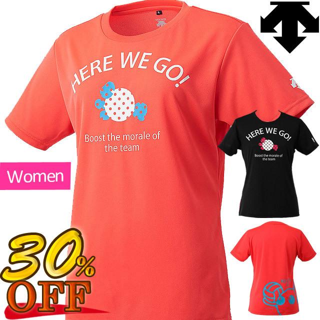 【1枚までメール便OK】デサント(DESCENTE) バレーボール 半袖プラクティスシャツ バボレディースシャツ [DVWLJA59] 即納 セール