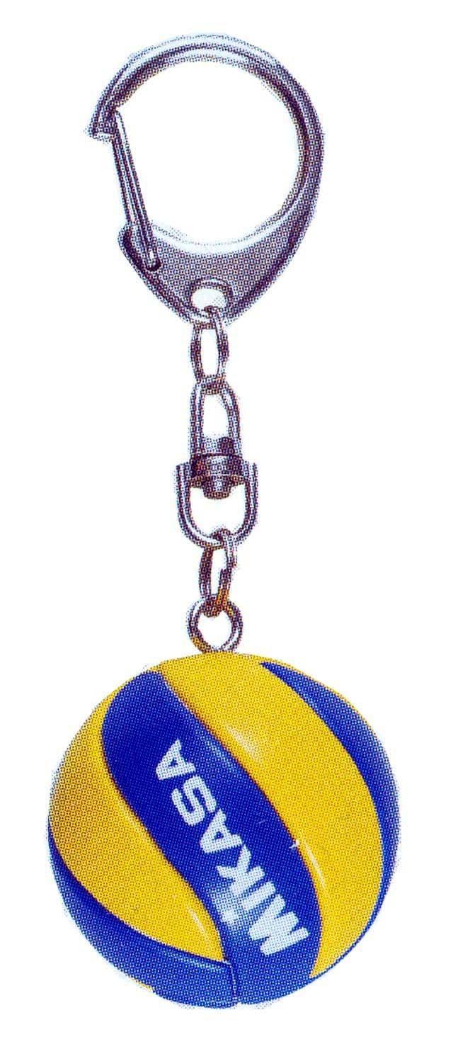ミカサバレーボールキーホルダー【国際公認球と同じ8枚パネルデザイン】/KVA