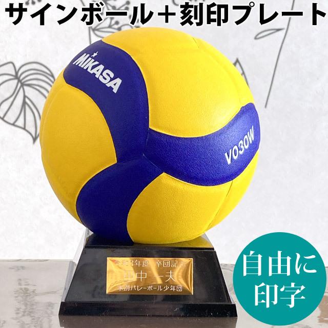 【名入れ】ミカサ(MIKASA) バレーボール 記念品用マスコット+プレート [V030W-KOKUIN] サインボール 寄せ書き 記念品【記号別途見積り】