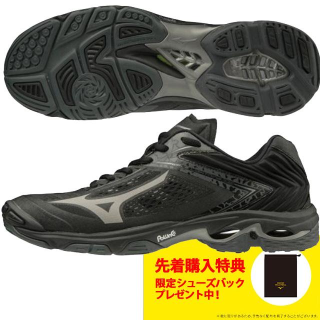 【送料無料】ミズノ(mizuno) バレーボールシューズ ウェーブライトニングZ5 15th記念モデル [V1GA1901-97] ブラック×ダークグレー 新作