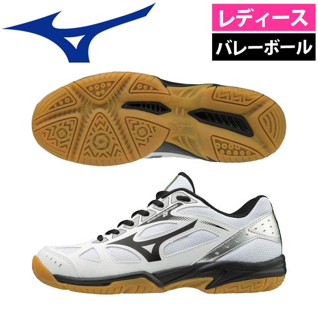 【即納】ミズノ(mizuno) レディース 軽量バレーボールシューズ サイクロンスピード2 [V1GC1980-09] ホワイト×ブラック×シルバー【アウトレットセール】