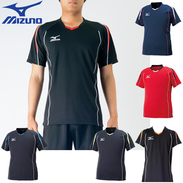 【1枚までメール便OK】ミズノ(mizuno) バレーボール 半袖 プラクティスシャツ [V2MA6087] プラクティスTシャツ 男女兼用サイズ