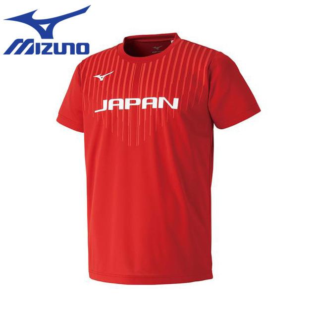 【1枚までメール便OK】ミズノ(mizuno) バレーボール練習着 全日本応援半袖Tシャツ [V2MA8580] 即納