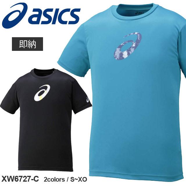【1枚までメール便OK】新作!アシックス(asics) バレーボール 半袖 プリントTシャツHS [XW6727-C] 通販 メンズ レディース