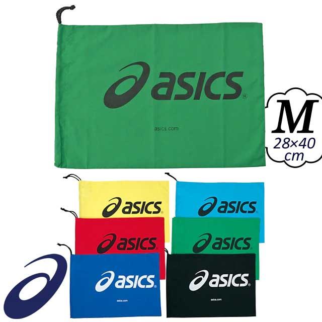 【2枚までメール便OK】アシックス(asics) シューズバッグ シューバッグ(M) [TZS986] バレーボールのシューズケースに使える巾着【即納】