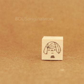 BOUSスタンプ-困・哀・女の子