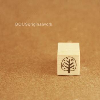 BOUSスタンプ-まんまるの木