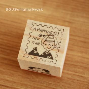 BOUSスタンプ-切手*A HAPPY NEW YEARお着もの♪