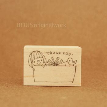 BOUSスタンプ-Thank you*プレゼント♪