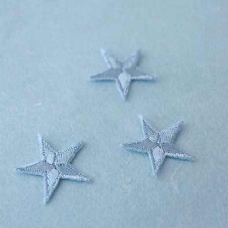 アップリケ-小サイズの星・水色(1枚)