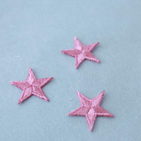 アップリケ-小サイズの星・ピンク(1枚)