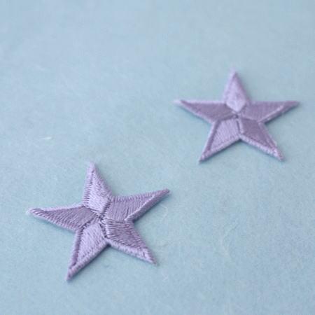 アップリケ-中サイズの星・紫(1枚)
