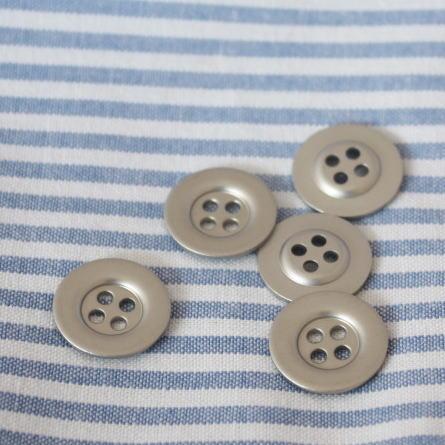 メタルボタン15mm-プレーン(シルバー)