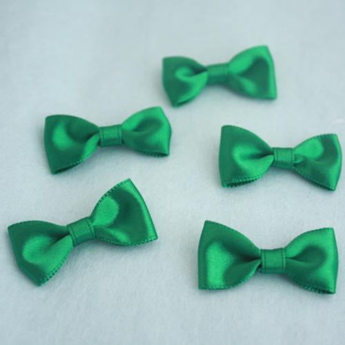 モチーフ-ベーシックリボン5個セット(グリーン)