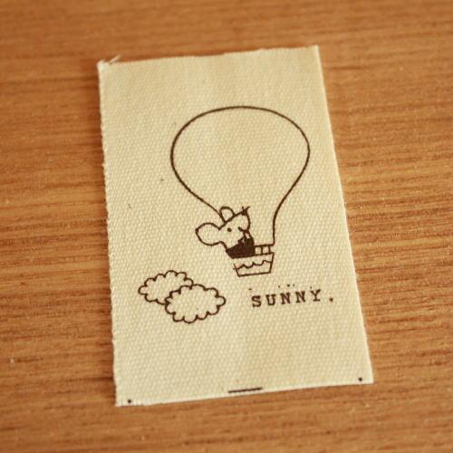 綿平織-bousねずみくんと気球