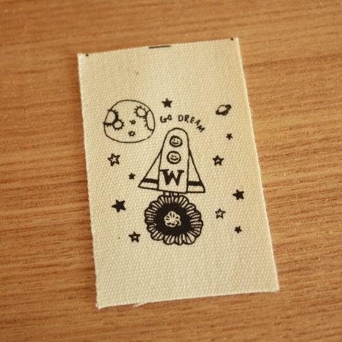 綿平織-holiday Go Dream(黒)