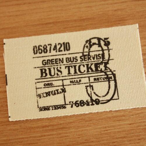 綿平織-バスチケット(黒)
