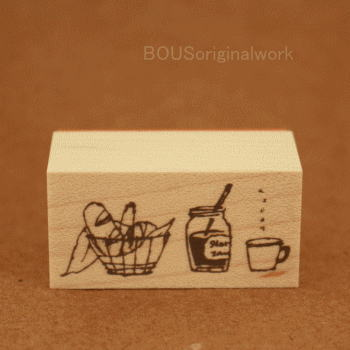 BOUSスタンプ-ほっこり朝カフェ。