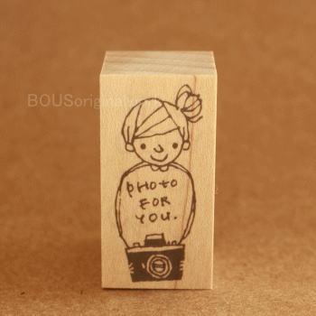 BOUSスタンプ-Photo for you*おだんごちゃんとカメラ!