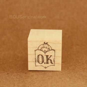 BOUSスタンプ-O.K*女の子と本。