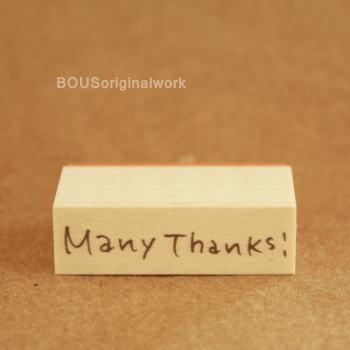 BOUSスタンプ-Many Thanks!