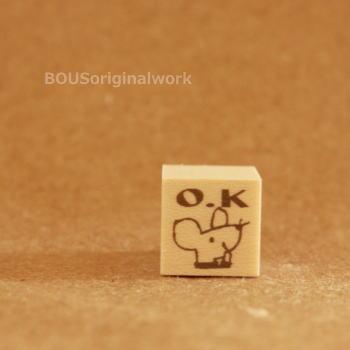 BOUSスタンプ-O.K!*ねずみくん
