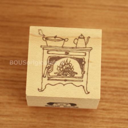 BOUSスタンプ-あったか暖炉♪