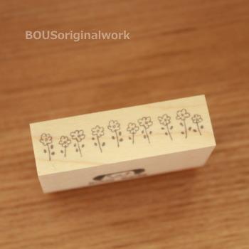 BOUSスタンプ-ライン*小さい花。
