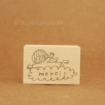 BOUSスタンプ-Merci*雲にのって♪