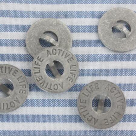 メタルボタン16mm-ACTIVELIFE(マットシルバー)