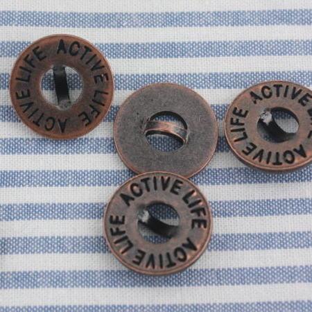 メタルボタン16mm-ACTIVELIFE(銅褐色)