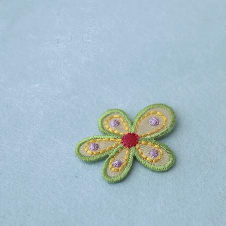 アップリケ-緑の花びら(1枚)
