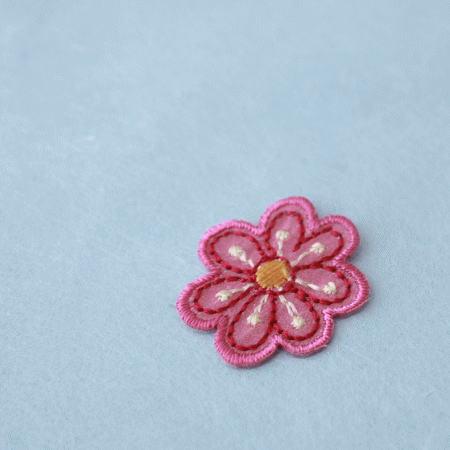 アップリケ-赤の花びら(1枚)