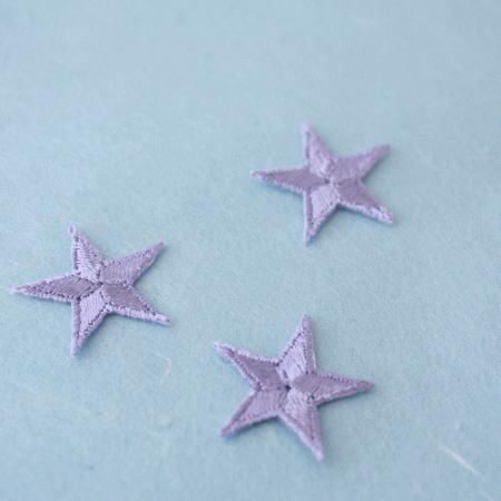 アップリケ-小サイズの星・紫(1枚)